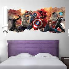 marvel u0027s the avengers wall sticker decals for kids room home decor