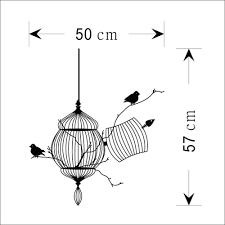 room decoration picture more detailed picture about birds cage birds cage tree branch creative modern vinyl wall sticker removable waterproofing home wall decal living room