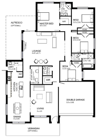 single story home floor plans modern single storey house plans