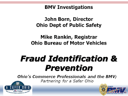 ohio bureau of motor vehicles ohio s commerce professionals and the bmv partnering for a safer
