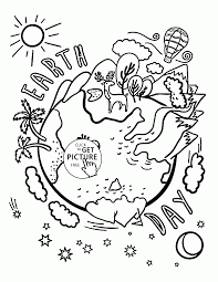 beautiful earth celebration earth day coloring page for kids