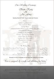 christian wedding program visionary designers christian baptiste designer joe and soon s