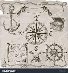 Pirates Map Pirates Hand Drawn Vector Set Hand Stock Vector 562783792