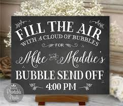 Personalized Pictures With Names Bubble Send Off Sign Chalkboard Printable Wedding Digital