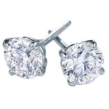 diamond earrings for sale 4 14 carat diamond studs earrings in 18 karat white gold for sale