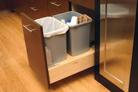 built in trash can cabinet extraordinary kitchen trash can cabinet extremely ideas design at