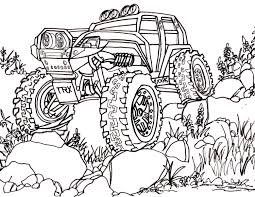 cartoon cars coloring pages 5 traxxas summit coloring pages drawing truck 4x4 rc