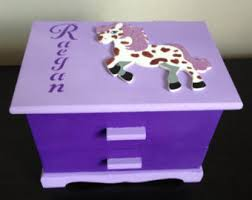 personalized jewelry box for baby kids jewelry box etsy