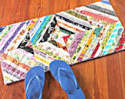 Laundry Room Rugs Mats Rectangle Rag Rug Style Modern Crochet Throw Rug Fall Decor