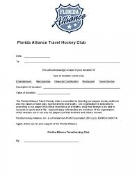 Donation Letter Sample For Non Profit Organization Florida Alliance Aaa Hockey Club Powered By Goalline Ca