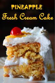 eggless pineapple fresh cream cake recipe pineapple pastry