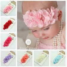 newborn headbands twdvs newborn flower elastic hair band kids headband chiffon 3