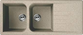 cap di lavello lavello venice 116x50 cm granitek 2 vasche con gocciolatoio