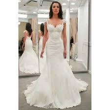 trumpet wedding dresses aliexpress buy 2017 mermaid wedding dresses cap sleeves