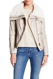 cloth moto jacket guess faux leather faux shearling collar moto jacket nordstrom