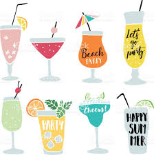 christmas martini glass clip art set of hand drawn alcoholic drinks cocktails with lettering quotes