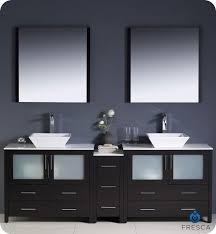 Fresca Torino FVNESVSL Modern Double Sink Bathroom - Bathroom vanities double vessel sink