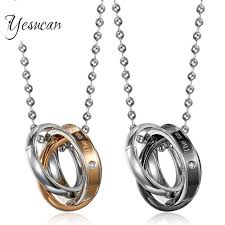 titanium jewelry necklace images Yesucan male letter necklaces pendants necklace gold color jpg