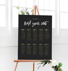 wedding seating signs wedding seating chart sign the
