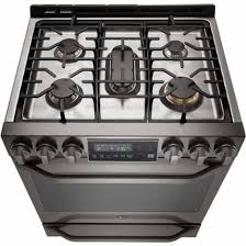 Clean Stainless Steel Cooktop Lg Studio 6 3 Cu Ft Self Cleaning Slide In Gas Convection Range