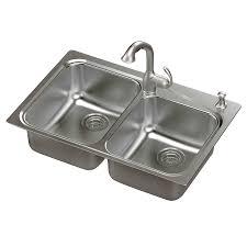 shop moen neva 22 in x 33 in double basin stainless steel drop in