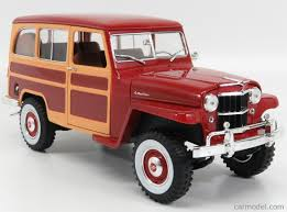 jeep station wagon lucky diecast ldc92858bur scale 1 18 jeep willys station wagon