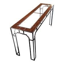 burlwood milo baughman console table chairish