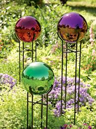 Gazing Ball Pedestals Backyard Gazing Ball In The Corner Spaces Pinterest