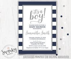 navy and gray baby shower invitations boy baby shower
