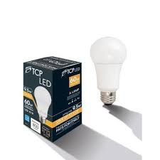 60w led light bulb tcp 60w equivalent soft white 2700k a19 dimmable omni led light