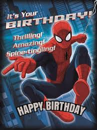 free spiderman greeting cards