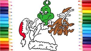 learn colors with how the grinch stole christmas coloring pages
