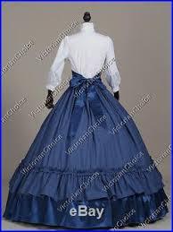 Civil War Halloween Costume Civil War Victorian Tartan Dress Gown Reenactment Women Halloween