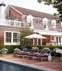 Summer Wind Patio Furniture Brick Pool Patio Formal Garden Simple Garden Shaker House