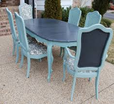 Refinish Dining Chairs Refinished Painted Vintage 1960s Thomasville Dining Table And