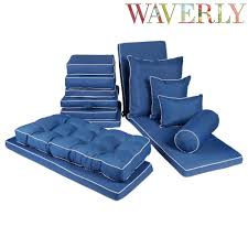 Outside Chair Cushions Waverly Solid Blue Indoor Outdoor Chair Cushions Collection