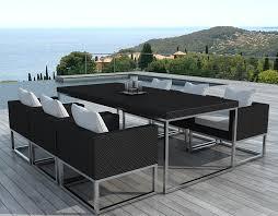 salon de jardin haut de gamme resine tressee salon de jardin design 1 table 6 fauteuils