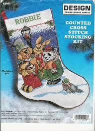 schema punto croce calza animaletti 3a cross stitch christmas