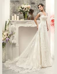 Discount Wedding Dress Vintage 2016 Lace Sweetheart Modest Country Wedding Dresses Gowns