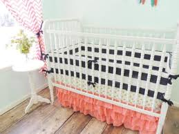 Navy And Coral Crib Bedding Dot Tiered Baby Bedding Navy Blue Coral Crib Bedding Set Navy