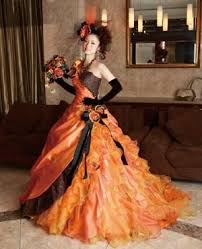 brown wedding dresses orange and brown wedding dress 2065581 weddbook