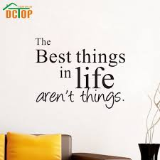 high quality wall quotes kitchen buy cheap wall quotes kitchen dctop the best things in life are not things wall sticker quote kitchen wallsticker living room