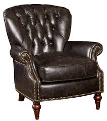 Vintage Leather Club Chair Decor Black Tufted Leather Club Chair With Wooden Floor And Rug