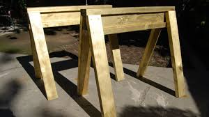 Build A Work Table Build Stackable Sawhorses From Scrap Lumber In Under 10 Minutes