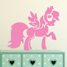 stickers etoile rose sticker poney avec ailes 1 ambiance sticker kc11724 jpg