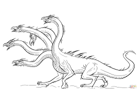 hydra dragon coloring page free printable coloring pages