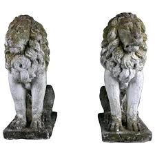 lions garden ornaments sleeping marble lion statue