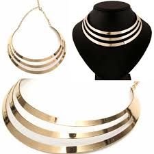 metal choker collar necklace images 3 layer choker the buying place jpg