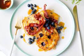 Blueberry Pancake Recipe Blueberry Pancakes With Bacon