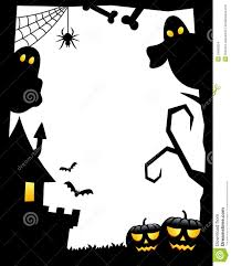halloween background ghosts halloween silhouette frame 1 stock images image 34368324